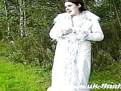 Her 1st time as a uk flasher this video is presented by uk flashers