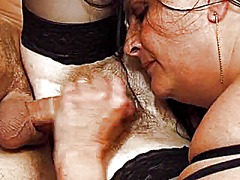 French mature threesome video
