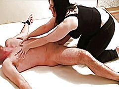 Xhamster Movie:Milf tickles her tied up man a...