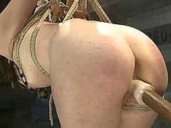 Ah-Me Movie:Rampant babe is tied up & toy ...