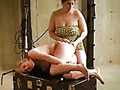 Lesbian whipping caning and butt plug
