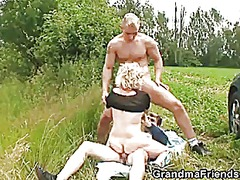 Old whore takes two di...