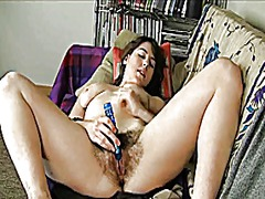 milf, hairy, toys, masturbation, toy,