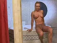 Silvia saint is totally naked and plays wi...