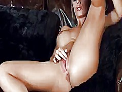 Nicole aniston shows off her parts before she masturbates