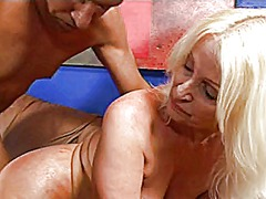 mature, anal, facial, blonde