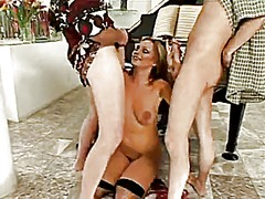 Lovely venus rough dp and reverse anal piledriver
