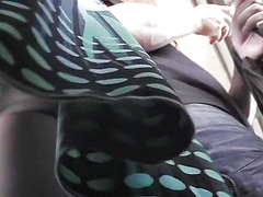 Voyeur Hit Movie:Green string panty upskirt foo...