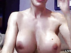 Stunning busty pornsta... video
