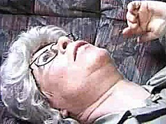 handjob, glasses, blowjob, granny,