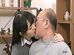 Japanese massage to help his father daughter