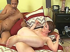 Short-haired newbie gets ir assfucked