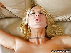 Blonde milf with incre...