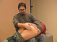 Xhamster Movie:Redhead spanked and paddled