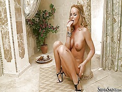 Silvia saint wants him shove his schlong i...