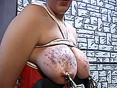Xhamster Movie:Male dom tied titty's, clamps