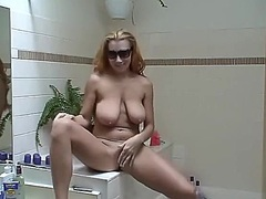 Private Home Clips - Heavy chested solo gol...