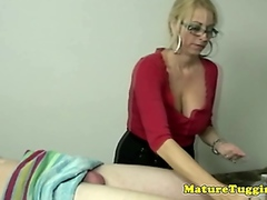 Mommy tugjob lover pampering dick