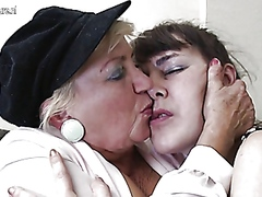 mature, lesbian, group, hairy,