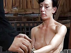 Thumb: Hung up babe is punished
