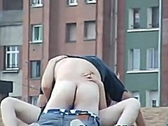 Drunk Couple Doing It in Public
