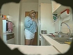 Private Home Clips - large nice-looking wom...