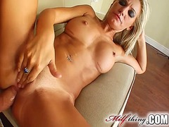 Skinny milf lucia loves doggy style when rubbing off