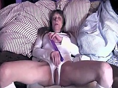 wife, brunette, cock, mature,