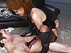 Latex asian dominate guy. - Xhamster