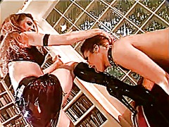 Xhamster Movie:Hot lesbian bitch in leather e...