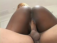 Big black booty gets her nipples, ass...