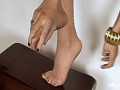 foot fetish, softcore, fetish, tits, shaved, natural boobs
