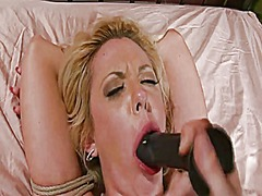 Xhamster Movie:Tied blond fucked 2 of 2