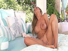 Nicole aniston with gigantic tits and trimmed pussy bares it all for cam