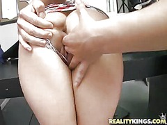 Yobt Movie:Hot dark haired stewardess has...