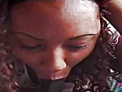 facial, blowjob, black, ebony, pov,