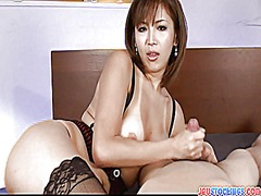 pov, japanese, milf, stockings