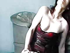 Private Home Clips Movie:Playgirl in stockings has a toy