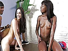 AlotPorn Movie:Black and white girl takes a b...