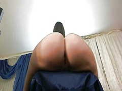 Private Home Clips - A big-ass gal spanks h...