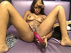 Ebony toying and cream...