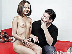 Submissive petite does... video