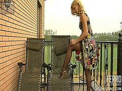 WinPorn Movie:Teasing blonde ninette undress...