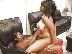 WinPorn Movie:Two chunky ebony babes fulfill...