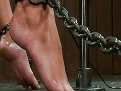 Bound act nearly dildoing and torture for gorgeous allie haze