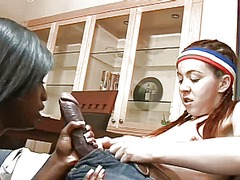 WinPorn Movie:Slim white teen and busty blac...