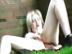 public, shaved, outdoors, masturbation, rubbing, orgasm, toys, pussy, wet,