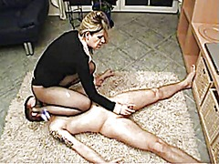 stockings, bdsm, handjob, face, stocking