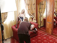 Silvia saint opens her legs to be tongue f...