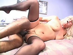 mature, hardcore, stocking, blonde,